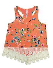 Knit Works Corail Floral Débardeur Lacets T-Shirt Fille S, M