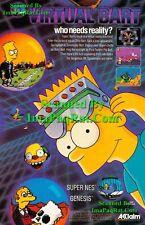 Virtual Bart: 1994, SNES Simpsosns Video Game Print Ad!