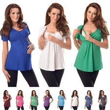 Nuevo y confortable 2en1 maternidad y de enfermería Top túnica tamaño 8 10 12 14 16 18 7042