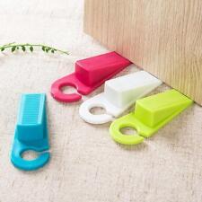Hanging Rubber Door Stopper Hook Wedge Safety Protector Blocker Home Draft W