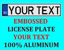Bulgaria Tag European Euro License Plate Number Plate Custom Text Customized