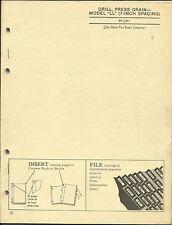 JOHN DEERE MODEL LL DRILL PRESS GRAIN (7 INCH SPACING) PARTS CATALOG