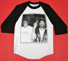 TUPAC BIGGIE TRUST NOBODY Raglan T-shirt NOTORIOUS B.I.G 2PAC 3/4Sleeve S-2XL