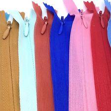 5 x Set de Cremalleras Para Costura Tapicería Manualidades Reparación 40.6cm