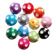 20mm Colorful Chunky Polka Dot Gumball Beads, Polkadot Bubblegum Beads - USA