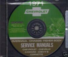 1971  CAMARO/SSCHEVELLE/SS SHOP/ BODY REPAIR MANUAL ON CD