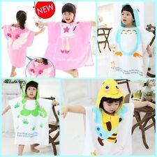 Children Hooded Bath Towel Beach Swimming Towel 100%Cotton For Kids Boys Girls