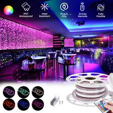 ATOM LED RGB Neon Flex Light Waterproof 220V IP67 Outdoor RGB Neon Flex UK Plug