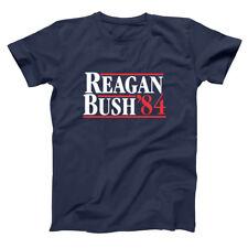 Reagan Bush 84  Ronald George Repulican Election Navy Basic Men's T-Shirt