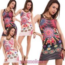 Vestido de mujer minivestido traje tubo multicolor elástico strass nuevo Z-2088