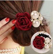Vincha Cinta de Pelo Estilo Flor y Perlas Control de Cabello Para Mujer y Niña