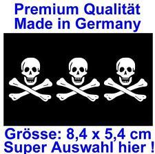 PREMIUM Aufkleber Fahne Pirat Piraten Flagge Autoaufkleber Auto Motorrad Sticker