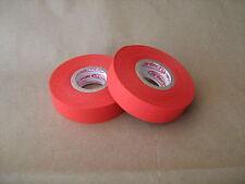 "2 Rolls of Orange Cloth Hockey Stick Tape Pro Quality 1"" X 25m"