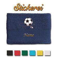 Handtuch Duschtuch Badetuch bestickt Stickerei Fussball Fußball + Name