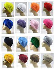 "Choose Color Women  Turban, Chemo Cancer Hat, Headwrap-""Standard Size"" -HT2932"
