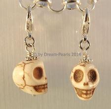 ♥ Dream-Pearls Charm Anhänger Skull Totenkopf Gothik türkis weiß pink grün rot ♥