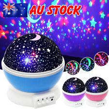 LED Rotating Star Night Light Children Nursery Room Lighting Projector Lamp