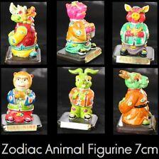Chinese Zodiac Animal figurines Rabbit Monkey Dragon Clay Rat statue sculpture