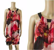 ex Coast Dress - Coast Halter Neck Red Floral Havanna Occasion Dress