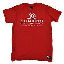 Climbing - Climbing Makes me Happy - bouldering funny Birthday sports T-SHIRT