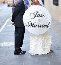 Wedding Parasol Thank You Just Married Ceremony Umbrella Decoration Photo Prop
