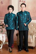 Chinese green style clothes Men's/women's jacket coat Sz M-3XL