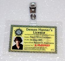 Supernatural ID Badge-Demon Hunter's Licence Sam Winchester prop costume cosplay
