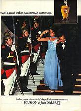 PUBLICITE  1975    JEAN D'ALBRET  parfum ECUSSON
