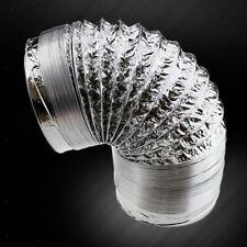 Flexible Aluminium Air Ducting Ventilation Vent Tube Hood Exhaust Pipe Air Dust