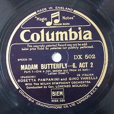 78 record in frame MADAMA BUTTERFLY ora a noi / un bel di vedremo ONE FINE DAY
