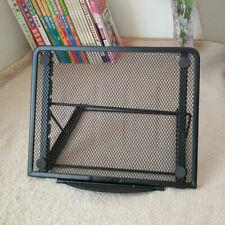 Metal Mesh Tablet Stand Adjustable Laptop Stand Desk Folding Tray Holder S