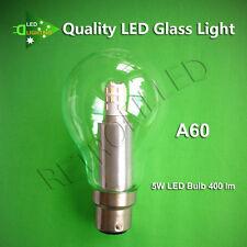 CROMPTON LED LIGHT A60/G45 BAYONET GLASS B22 GLOBE BULB 5W/3W 240V WARM WHITE