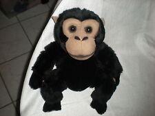 """E & J Ej Tan Ape Brown monkey Plush 12"""" Sitting Soft Lovey"""
