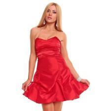 Noble satin Minirobe robe de soirée rouge #ak843