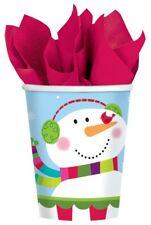 GIOIOSO pupazzo di neve | Natale | SCIARPA | Robin 266ml Carta Festa Bere TAZZE 1-48pk