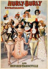 B4 Vintage Burlesque Dance Theatre Poster A1 A2 A3
