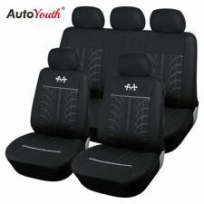 Car Seat Protector Car Interior Decoration Full Set of Front + Rear Black