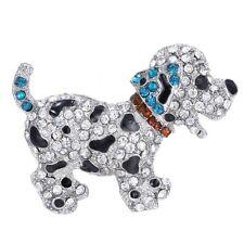 Dog Silver Crystal Rhinestone Animal Brooch Pin Women Costume Jewelry Gift New