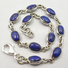 925 Sterling Silver UNISEX Bracelet ! Natural Gemstone Wholesale Price Jewelry