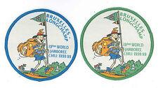 1999 World Scout Jamboree BELGIUM BRUXELLES LONGCHAMP Contingent Patch SET