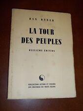 """""""LA TOUR DES PEUPLES"""" HAN RYNER (1947) GD PAPIER NUMEROTE"""