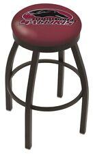 Southern Illinois Salukis Hbs Black Swivel Bar Stool with Maroon Cushion