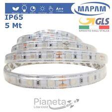 Striscia LED da esterno IP65 5M Rosso Verde Blu adesiva flessibile strip Mapam