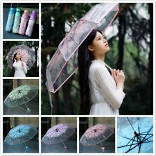 Transparent Clear Umbrella Cherry Blossom Mushroom Apollo Sakura 3 Fold Umbrella
