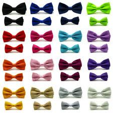 Men Kids Boys Adjustable Bow Tie School Wedding Party Business Bowties Solid