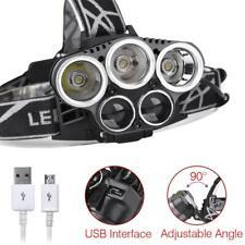 T6 5 LED USB 40000 Lumens 18650 phare Super Bright 5 Modes lampe torche EH