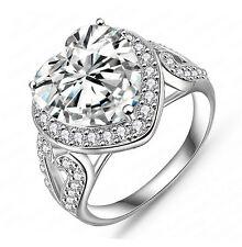 Women's Fashion Heart Shape Engagement Ring Wedding Ring Vintage Style R159