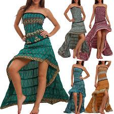 Vestito donna asimmetrico etnico Ibiza coda mini abito boho gipsy sexy PW-28
