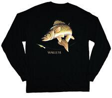 Walleye fish long sleeve fishing shirt for men gift idea mens t-shirts