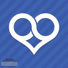 Infinite Love Heart Infinity Vinyl Decal Sticker